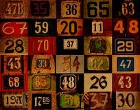Fond grunge avec des numéros Photographie stock