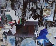Fond grunge avec des restes des affiches Photographie stock
