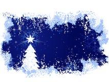 Fond grunge avec l'arbre de Noël Photos stock