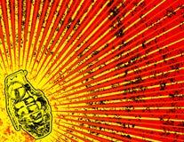 Fond grunge avec la grenade Image libre de droits