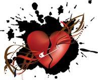 Fond grunge avec le coeur Images stock