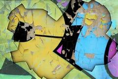 Fond grunge avec le graffiti Image libre de droits