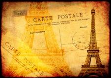 Fond grunge avec le vieux papier de texture et carte postale de vintage Photo libre de droits
