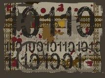 Fond grunge binaire Images libres de droits