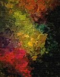 Fond grunge décoratif de trame abstraite, avec les calomnies chaotiques et les baisses troubles de la peinture sur la toile textu illustration libre de droits