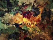 Fond grunge décoratif de trame abstraite, avec les calomnies chaotiques et les baisses troubles de la peinture sur la toile textu illustration de vecteur