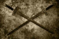Fond grunge d'épées Images stock