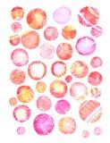 Fond grunge d'aquarelle dans des couleurs d'arc-en-ciel Affiche de vintage, bannière, page d'album Texture de papier âgée faite m illustration libre de droits