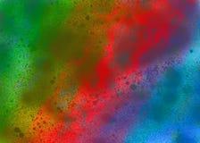 Fond grunge d'aquarelle dans des couleurs d'arc-en-ciel Affiche de vintage, bannière, page d'album Texture de papier âgée faite m illustration stock