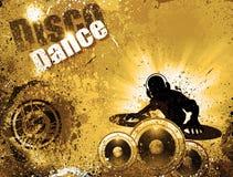 Fond grunge d'aviateur de disco du DJ de type illustration de vecteur