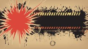 Fond grunge d'explosion. Photo libre de droits