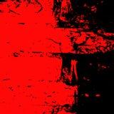 Fond grunge d'un fragment d'un mur de briques rouge et noir Photos libres de droits