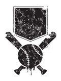 Fond grunge de base-ball illustration stock