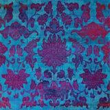 Fond grunge de batik de rouge bleu images libres de droits