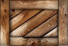 Fond grunge de boîte en bois. Vecteur illustration stock