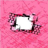Fond grunge de bouclier Photo stock