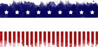 Fond grunge de carte de voeux de drapeau américain Photographie stock libre de droits