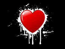 Fond grunge de coeur illustration libre de droits