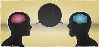 Fond grunge de communication d'homme et de femme illustration de vecteur