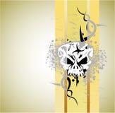 Fond grunge de crâne images stock