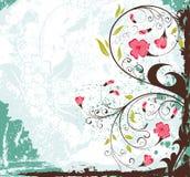 Fond grunge de fleur Photo stock