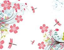 Fond grunge de fleur Photos libres de droits