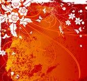 Fond grunge de fleur Photo libre de droits