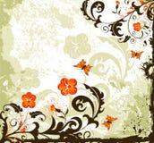 Fond grunge de fleur Image stock