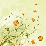 Fond grunge de fleur Images libres de droits