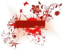 Fond grunge de fleur Photographie stock libre de droits