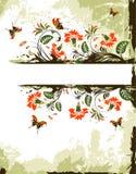 Fond grunge de fleur illustration de vecteur