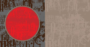 Fond grunge de fonte Photo libre de droits