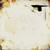 Fond grunge de graduation Images stock