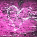 Fond grunge de jour de valentines de coeur Images libres de droits