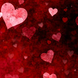 Fond grunge de jour de valentines de coeurs illustration libre de droits