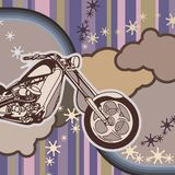 Fond grunge de moto illustration stock