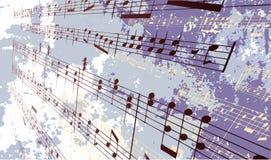 Fond grunge de musique Images libres de droits