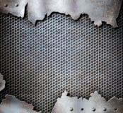 Fond grunge de punk de vapeur en métal photos libres de droits