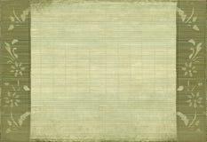 Fond grunge de sépia de fleur et de bambou Photo stock