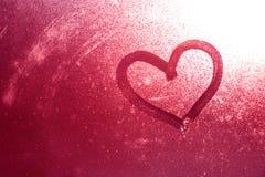 Fond grunge de symbole de coeur Photographie stock libre de droits