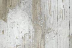 Fond grunge de texture en bois blanche peinte superficielle par les agents de planche Image libre de droits