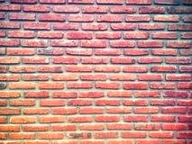 Fond grunge de texture rouge de mur de briques pour les coins ou la conception intérieure vignetted Photos libres de droits