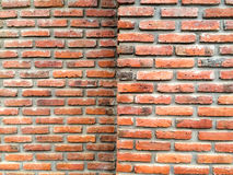 Fond grunge de texture rouge de mur de briques pour les coins ou la conception intérieure vignetted Images stock