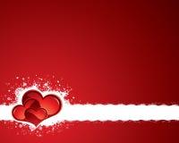 Fond grunge de valentine Images stock