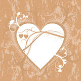 Fond grunge de Valentine, vecteur Photographie stock libre de droits