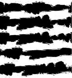 Fond grunge de VECTEUR abstrait avec les rayures noires et blanches Configuration sans joint Images stock