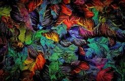 Fond grunge de vintage décoratif abstrait de trame, avec la texture florale des courses larges, conception de peinture pour la ta illustration de vecteur