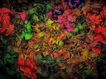 Fond grunge de vintage décoratif abstrait de trame, avec la texture florale des courses larges, conception de peinture pour la ta illustration stock