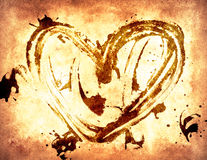 Fond grunge du jour de Valentine Images libres de droits