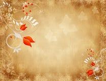 Fond grunge floral Images libres de droits